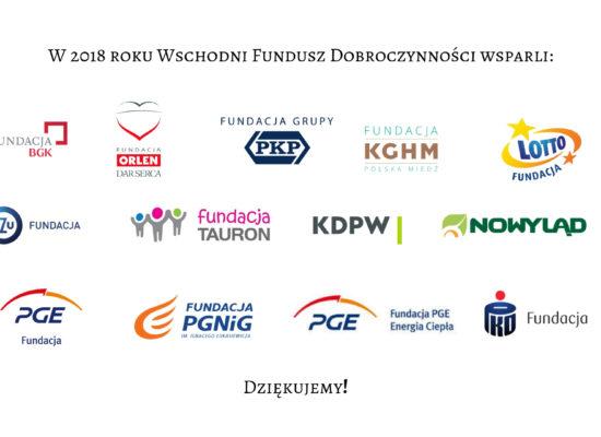 Wschodni Fundusz Dobroczynności Dziękuje Darczyńcom