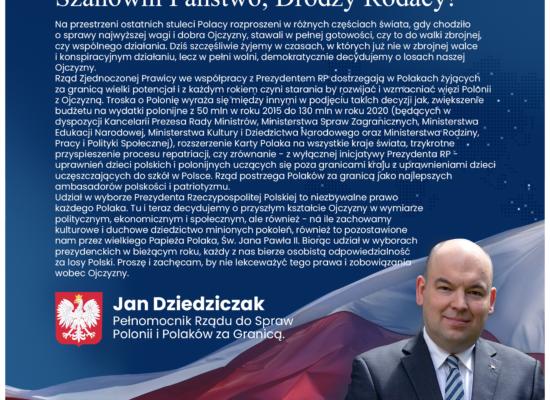 List Pełnomocnika Rządu do Spraw Polonii i Polaków za Granicą