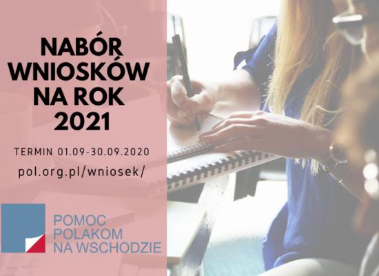 Złóż wniosek projektowy na rok 2021